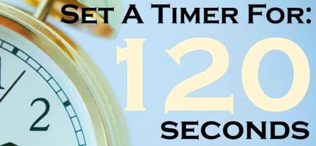 60 seconds vs 120 seconds