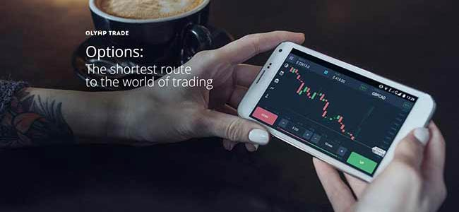 olymp trade platform on a mobile