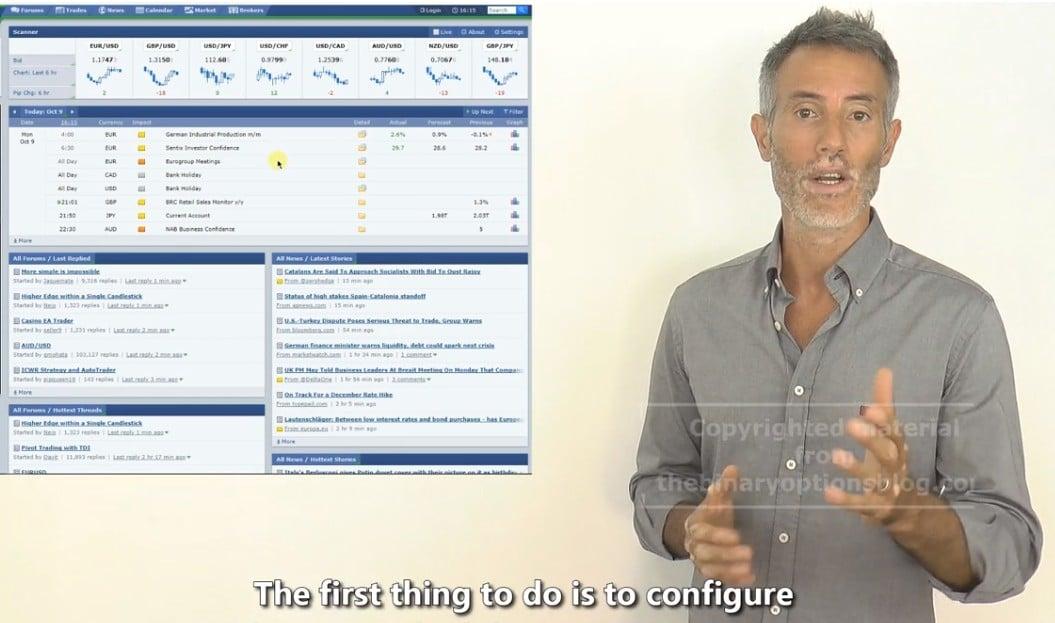 binary options online training