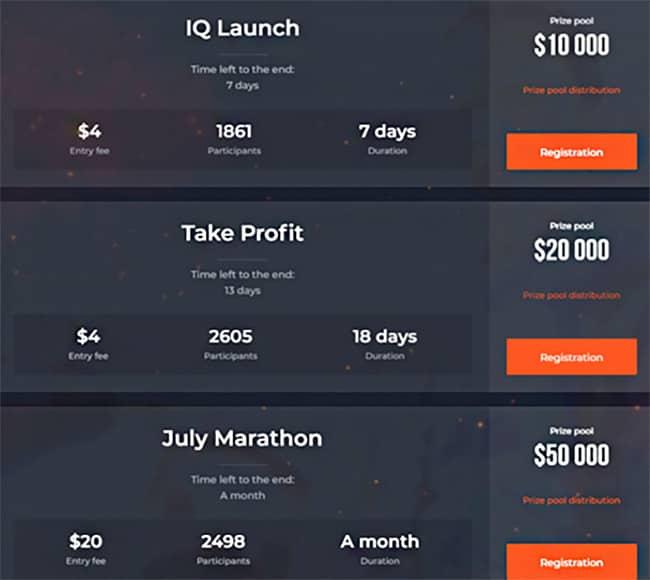 IQ Option Tournaments