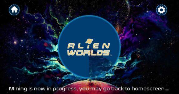 mining process in Alien Worlds