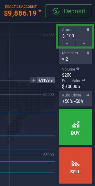 How to trade Bitcoin on the IQ Option platform 2