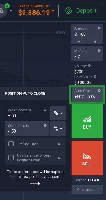 How to trade Bitcoin on the IQ Option platform 3