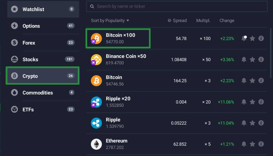 How to trade Bitcoin on the IQ Option platform 4
