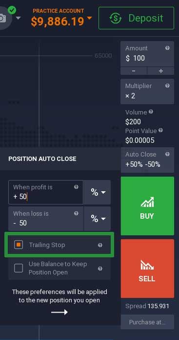 How to trade Bitcoin on the IQ Option platform 5